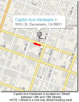 Click here for a map and directions to Capitol Ace Hardware